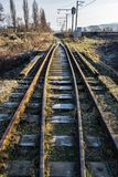 Old railroad in springtime. Transportation background Royalty Free Stock Images