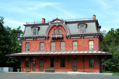 Old railroad station in Hopewell New Jersey Stock Photo