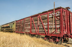 Old Railroad Stock Car Royalty Free Stock Image