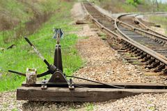 Old railroad switch Royalty Free Stock Photos