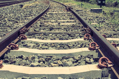 Old railroad in thailand Stock Photography