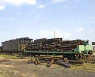 Old Railroad ties Stock Photo