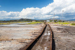 Old Railroad to the production of salt Stock Photos
