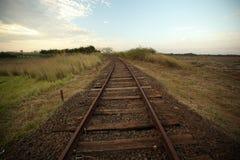 Old railroad track. Line train. Stock Image