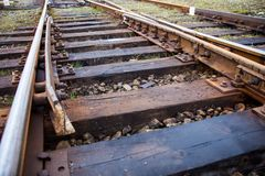 Old railroad track stock photography