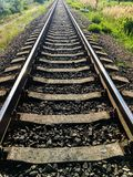 Old railroad tracks royalty free stock photos