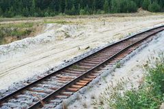 Old railroad tracks Royalty Free Stock Photography