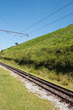 Old railroad tracks in the field Stock Images