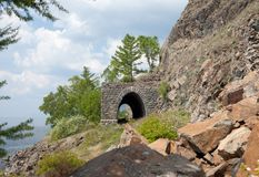Old railroad tunnel near Lake Baikal Royalty Free Stock Photography