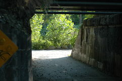 Old railroad underpass Royalty Free Stock Photos