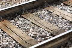 Old rails Royalty Free Stock Image
