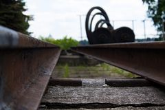 Old rails Stock Photos