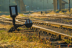 Old rails in soft sun Stock Images