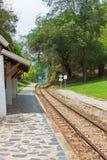 Old railway. Railway historical World War 2,Kanchanaburi,Thailand Stock Photo