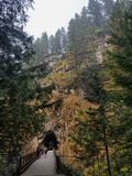 Old railway. Old abandoned mine stock images