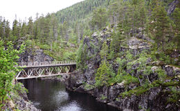Old railway bridge. In Norway Royalty Free Stock Photography