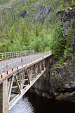 Old railway bridge. In Norway Stock Photo