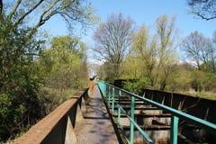 Old railway bridge Royalty Free Stock Photos