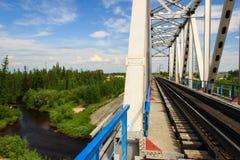 Old railway bridge Royalty Free Stock Images