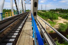 Old railway bridge Stock Images