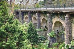 Old railway bridge in Monte, Madeira Stock Photography