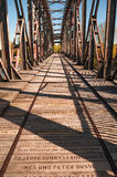 Old Railway Bridge over the Elbe in Magdeburg, Germany Royalty Free Stock Images