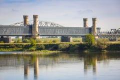 Free Old Railway Bridge Over Vistula River Royalty Free Stock Photography - 100115837