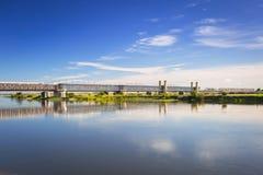 Free Old Railway Bridge Over Vistula River Royalty Free Stock Image - 100116126