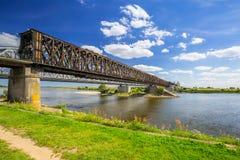 Free Old Railway Bridge Over Vistula River In Tczew Royalty Free Stock Photo - 98101995