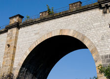Old railway bridge, Prague Stock Photo