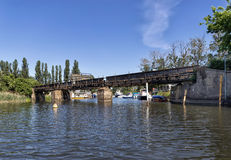 Old railway bridge Royalty Free Stock Photography