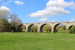 Old railway bridge, stone bridge, viaduct Niederntudorf Royalty Free Stock Photos