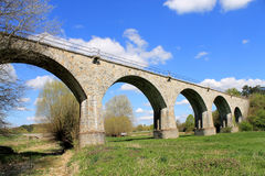 Old railway bridge, stone bridge, viaduct Niederntudorf Stock Photography