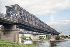 Old railway bridge in Tczew, Poland Stock Photography