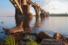Old railway bridge Royalty Free Stock Photos
