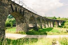 Old railway bridge viaduct Stock Photo
