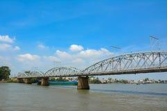 Old railway bridge in Vietnam Stock Image