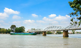 Old railway bridge in Vietnam Royalty Free Stock Images