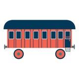Old railway car. royalty free illustration
