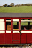 Old railway carriage. A red third class vintage railway carriage royalty free stock photo