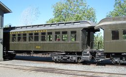 Old Railway Carriages Sacramento California Stock Photos