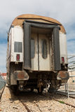 Old railway cars. Stand on the track Royalty Free Stock Photos
