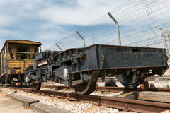 Old railway cars. Stand on the track Stock Images