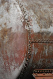 Old railway cistern detail. Old rusty railway cistern detail and close-up stock image