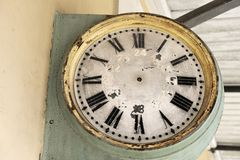 Old railway clock face Royalty Free Stock Photography