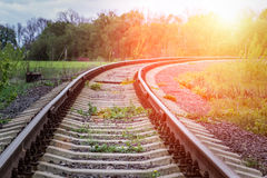 Old Railway in countryside Stock Image