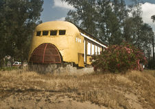 Old Railway Diner. Ruins of an old railway diner from the Inland Empire Railway Museum at Perris, California royalty free stock photography