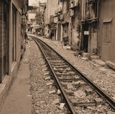 Old railway hanoi Stock Photo