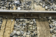 Old railway junction with gap Royalty Free Stock Photography