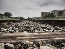 Old railway line abandoned Royalty Free Stock Image